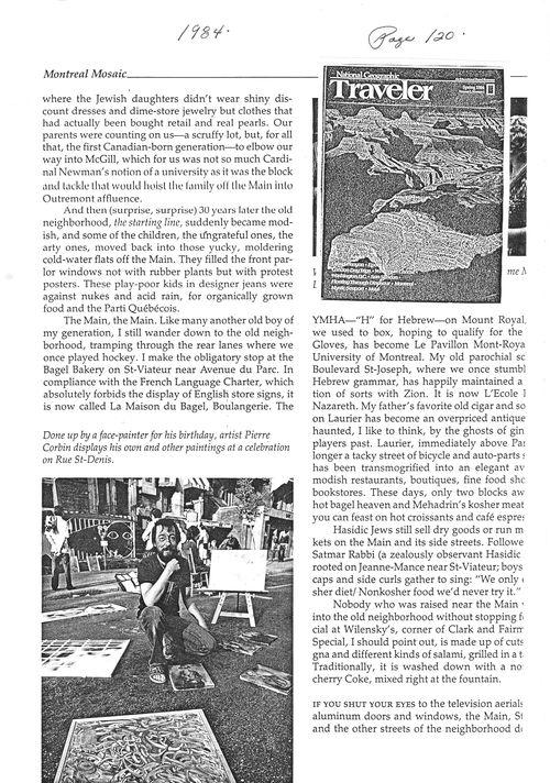 Pierre Corbin dans le National Geographic - Printemps 1984