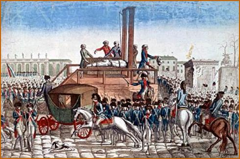 Exécution de Louis XVI le 21 janvier 1793.