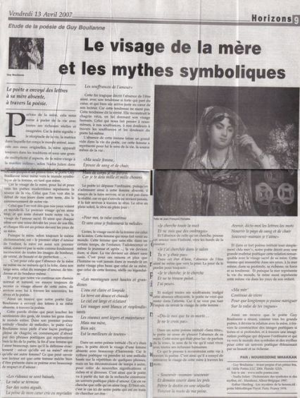 Libération (Maroc) 13 avril 2007