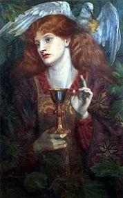 Le Graal peint par Dante Gabriel Rossetti en 1860.