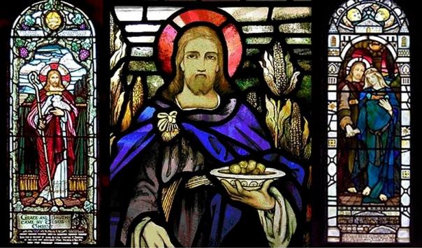 Jésus et Marie Magdeleine, église de Kilmore, Île de Mull, Écosse.