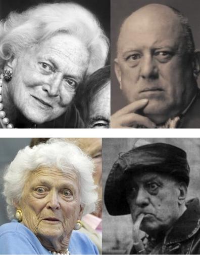 Barbara Pierce, fille de Aleister Crowley et mère de George W. Bush