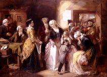 L'arrestation du roi et de sa famille à Varennes. Toile de Thomas Falcon Marshall (1854).