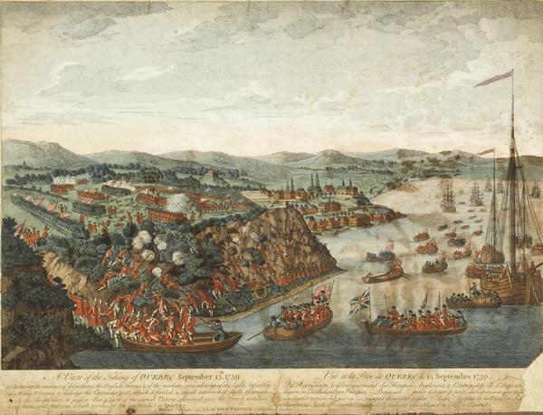 La prise de Québec, huile sur toile par Hervey Smyth, 1797