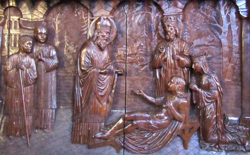 Saint Dagobert II, roi d'Austrasie, martyr, patron de Stenay, au diocèse de Verdun. L'existence de Sigisbert IV est attestée par l'Égliseelle-même