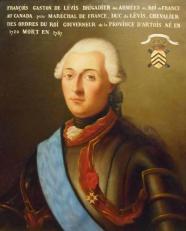 Le duc de Lévis portant l'écharpe du Saint-Esprit et la croix de Saint-Louis.