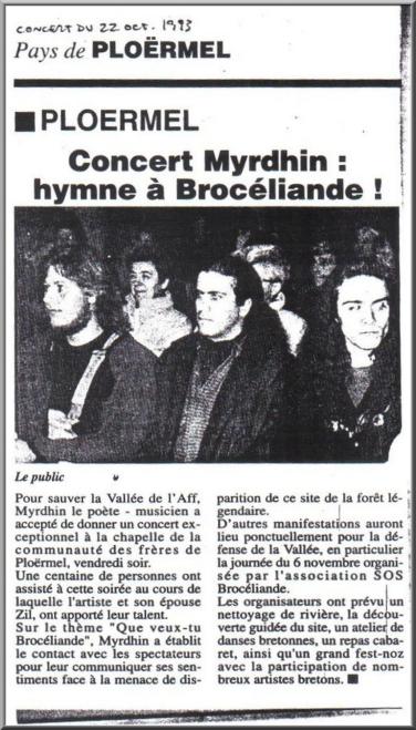 Myrdhin, Pays de Ploërmel, 22 octobre 1993