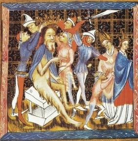Couronnement d'un homme sauvage et velu - Ursus. Auteur inconnu, bf 123 Université de Phoenix.