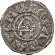 Denier de Raimond de Bollène, archevêque d'Arles ( ? – † 22 juin 1182)