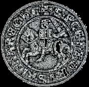 Sceau de Roustan de Comps, Commandeur du Ruou