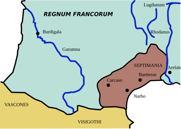 Carte de la Septimanie