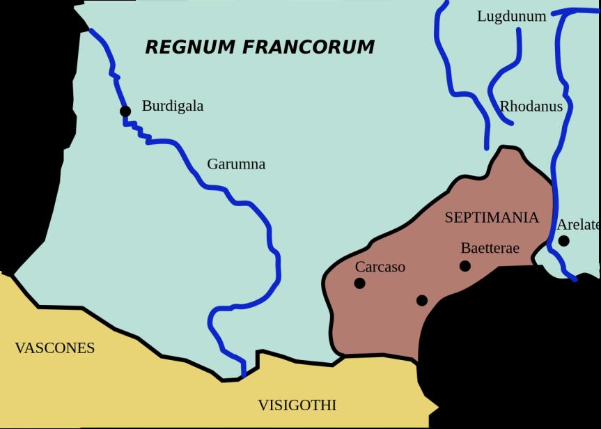 Carte de la Septimanie