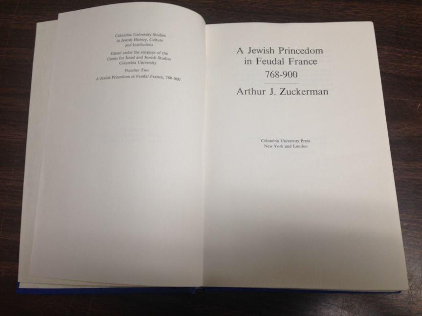 Jewish Princedom in Feudal France (2)