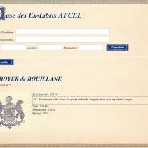 AFCEL - Ex-libris BOYER de BOUILLANE - Dauphiné - 20e siècle