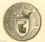 EX-LIBRIS de Franz Rudolf von PLANTA au château de TAGSTEIN. Suisse