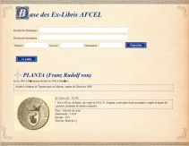 EX-LIBRIS de Franz Rudolf von PLANTA