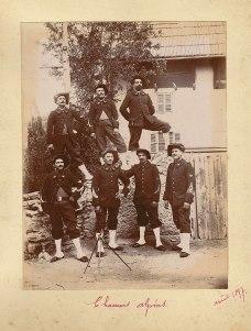 Un groupe de chasseurs alpins en 1897, 14e bataillon.