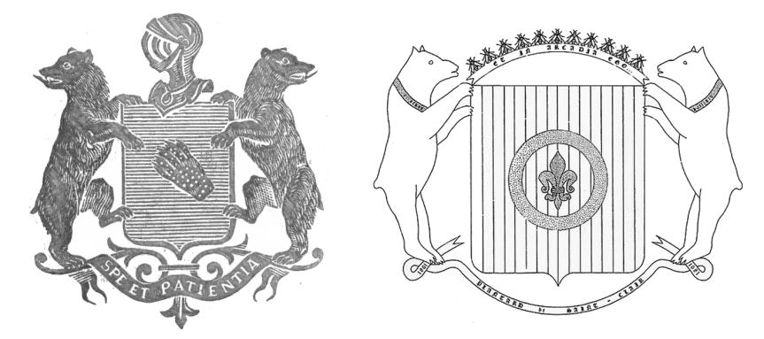 L'étrange similitude entre les armoiries de Paul Boyer de Bouillane et celles choisies par Pierre Plantard de Saint-Clair, co-auteur, avec Philippe de Chérisey, des dossiers secrets d'Henri Lobineau.