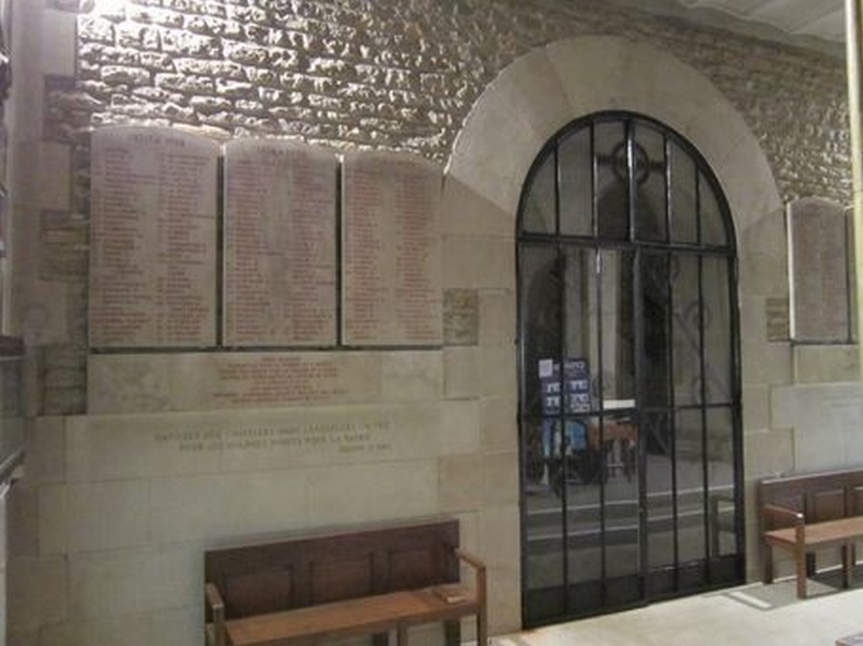 Plaque commémorative de la crypte Notre-Dame des Armées (Domrémy-la-Pucelle, France)