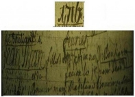 Baptême de Jean-Marc de Bouillanne, 1 février 1716.