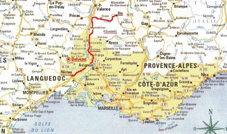 La bague sigillaire, représentant le prince Ursus, a été trouvée à Belvézet au nord de Nîmes, sur la voie qui nous conduit vers le Diois, dans la Drôme.