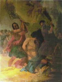 La flagellation de Saint Baudile due au peintre biterrois Déjean entre 1935 et 1938.