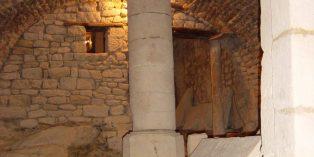 La crypte de l'église Saint-Dagobert à Stenay, dans le département de la Meuse (IXème - XIIème siècle)
