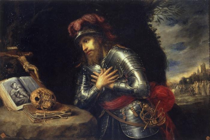 Saint Guillaume ermite. Peinture d'Antonio de Pereda, vers 1630 (Académie royale des beaux-arts de San Fernando, Madrid).