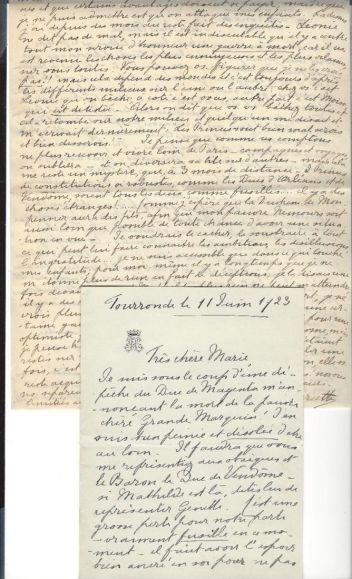 09. Correspondance de Henriette de Belgique, duchesse de Vendôme et d'Alençon