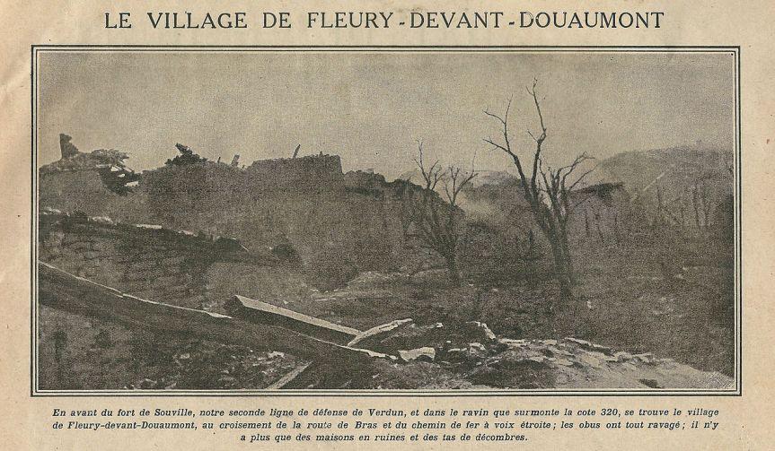 Fleury-devant-Douaumont (Meuse, France) ; le village ravagé par les combats de Juin 1916 - 02