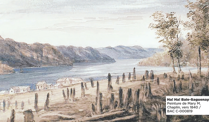 Ha! Ha! Baie-Saguenay. Peinture de Mary M. Chaplin, vers 1840 / BAC C-000819.