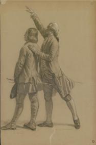 Alexandre Debelle - Etudes pour le tableau représentant l'assemblée de Vizille de 1788