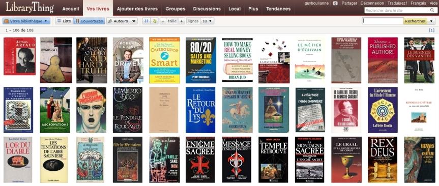 Les livres de l'auteur Guy Boulianne sont répertoriés sur la plateformeLibraryThing