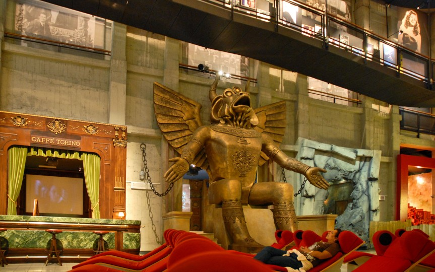 La statue de Moloch au musée national du cinéma (Turin, Piémont).