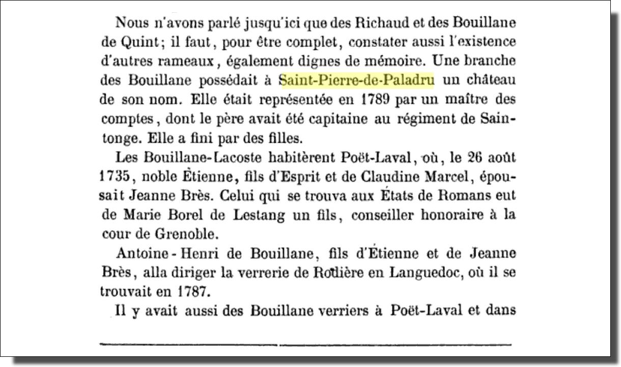 André Lacroix - Bulletin de la société d'archéologie et de statistique de la Drôme, tome 12, 1878, p. 304.