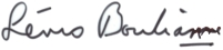 Lévis Bouliane (signature)