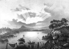 Le lac de Paladru au XIXe siècle, illustré par Alexandre Debelle (1805-1897).