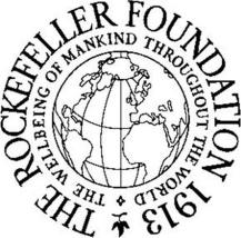 Le logo original de la Fondation Rockefeller