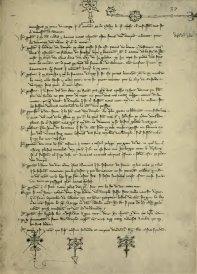 Procès des Templiers, en 1309 ; manuscrit original avec les paraphes des notaires. — Latin 11796 fol 37 (XI, 191) - LOW