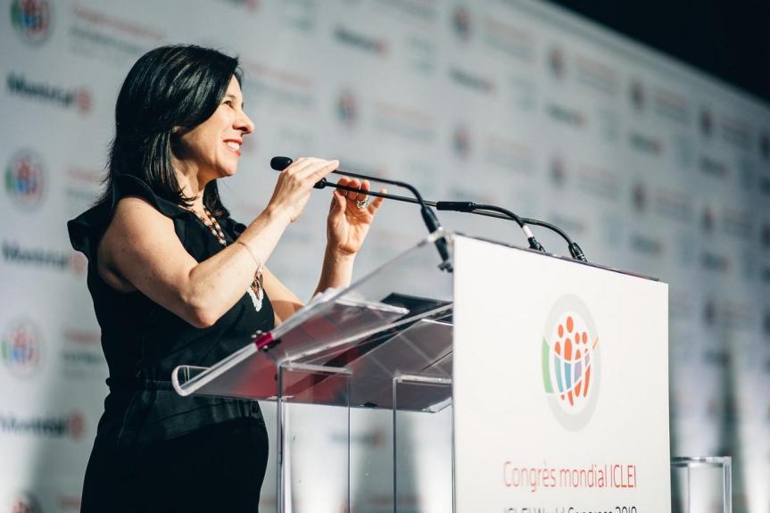 Valérie Plante lors du 10e Congrès mondial ICLEI