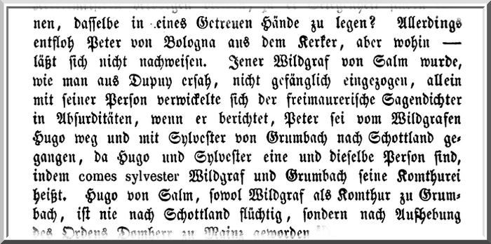 Wilhelm Ferdinand Wilcke, Histoire de l'Ordre des Templiers