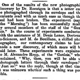 Bouillane - Sheffield and Rotherham Independent (Sheffield, South Yorkshire, England) Friday, February 21, 1896 (extrait)