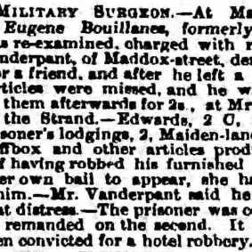 Eugène Bouillane — The Observer (London, Greater London, England) Monday, August 19, 1861 - Page 4.