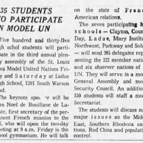 Jean-Noël de Bouillane de Lacoste - St. Louis Post-Dispatch (St. Louis, Missouri) Thursday, April 06, 1967 (extrait)