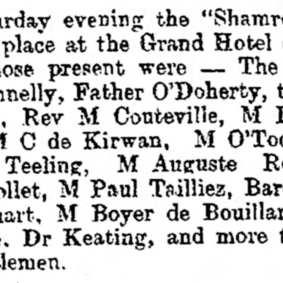 Paul Boyer de Bouillane - The Freeman's Journal (Dublin, Ireland) Wednesday, March 22, 1899 (extrait)