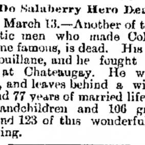 Thomas Bouillane — Manitoba Free Press (Winnipeg, Canada) Friday, March 14, 1890 (extrait)