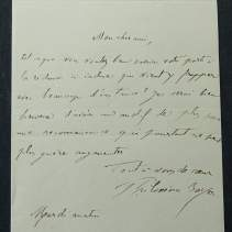 Autographe de Philoxène Boyer - L.A.S. à Albéric Second (adresse au verso)