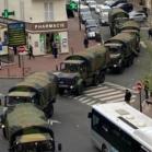 Convoi militaire à Charenton (France)