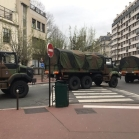 Convoi militaire à Paris (France)