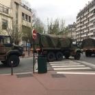 Convoi militaire à Paris (France)